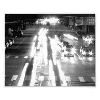 Autos und Bewegung Schwarzweiss Foto Drucke
