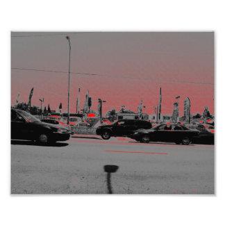 Autos und rotes Licht Fotografie