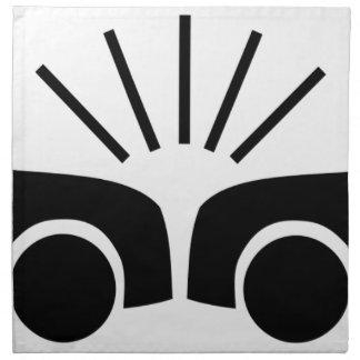Autounfall Stoffserviette