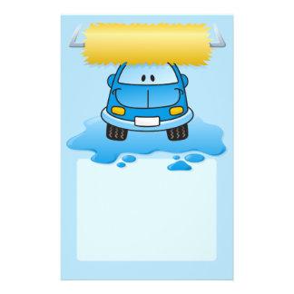 Autowäsche-Cartoon Flyer