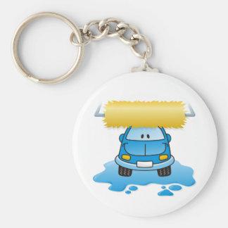 Autowäsche Standard Runder Schlüsselanhänger