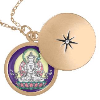 Avalokiteshvara (tib. Chenrezig) - Mitleid Buddha Amulett
