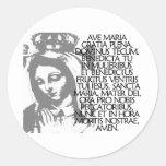 Ave Maria Runde Aufkleber