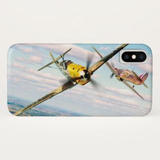 """Aviation Art Device Cass  """"Messerschmitt Bf 109E"""" iPhone X Hülle"""