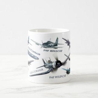 "Aviation Art Mug "" American warplane of WWII"" Kaffeetasse"