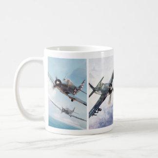 """Aviation Art Mug """"Fighter of World War II"""" Kaffeetasse"""