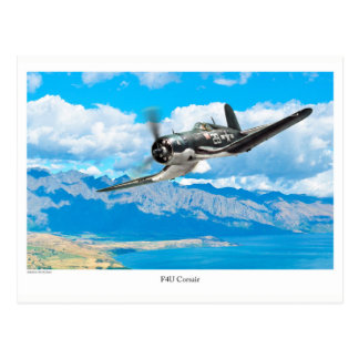 "Aviation Art Postcard ""F4U Corsair"" Postkarte"