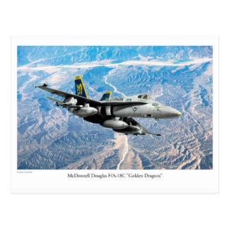 "Aviation Art Postcard ""F/A-18 Hornet"" Postkarte"