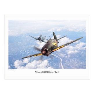 "Aviation Art Postcard ""Mitsubishi J2M Jack"" Postkarte"