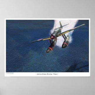"aviation Art Poster ""Aichi E16A Zuiun"" Paul"""""
