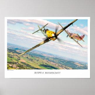 "Aviation Art Poster ""Bf 109E"""
