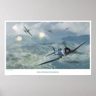 "Aviation Art Poster ""F4U Corsair"""
