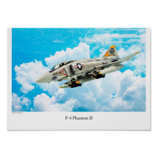 "Aviation Art Poster ""F-4 Phantom II"""