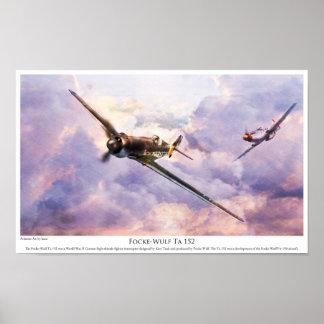 "Aviation Art Poster ""Focke-Wulf Ta 152 """