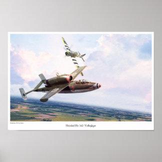 """Aviation Art Poster """"Heinkel He 162"""""""