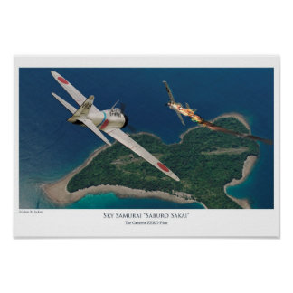 "Aviation Art Poster ""Saburo Sakai"""