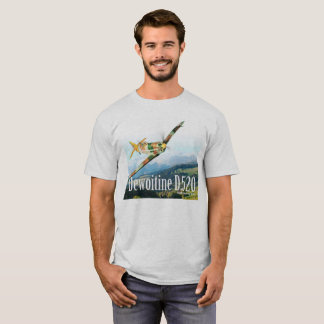 "Aviation Art T-shirt ""Dewoitine D.520"""
