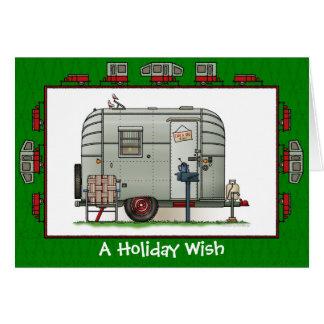 Avion Wohnwagenanhänger-Feiertags-Wunsch Karte