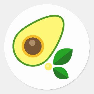 Avocado-Aufkleber Runder Aufkleber