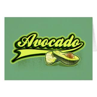 Avocado gelockt karte