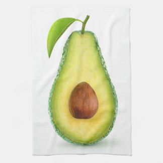 Avocado halb geschirrtuch