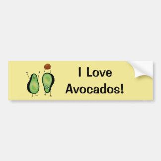 Avocado lustige zujubelnde grüne Grube Handstand Autoaufkleber
