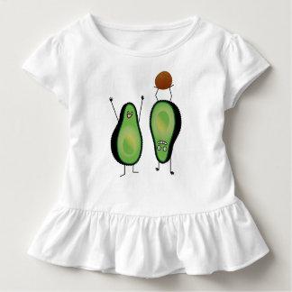 Avocado lustige zujubelnde grüne Grube Handstand Kleinkind T-shirt