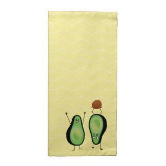 Avocado lustige zujubelnde grüne Grube Handstand Serviette