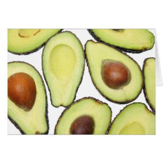 Avocado-Muster Karte