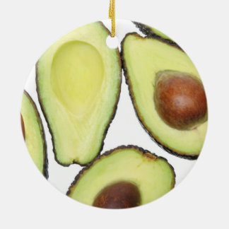 Avocado-Muster Rundes Keramik Ornament