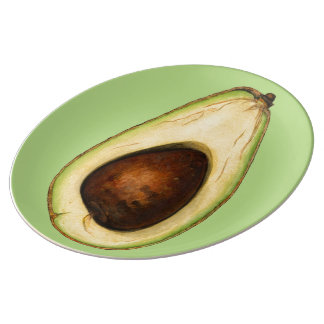 Avocado-Power Porzellanteller