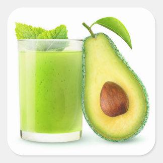 Avocado Smoothie Quadratischer Aufkleber