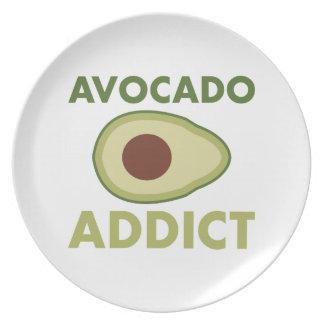 Avocado-Süchtiger Melaminteller
