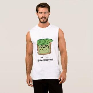 Avocado-Toast-Hipsterglas-Schmiererhaar Ärmelloses Shirt