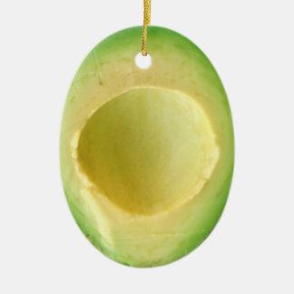 Avocado verrücktes 4Owen Ovales Keramik Ornament