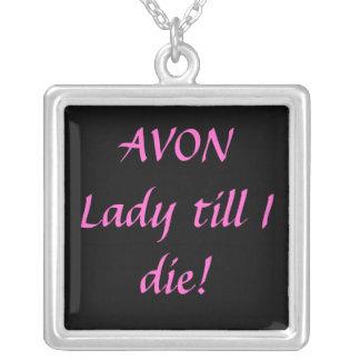 Avon-Halskette Halskette Mit Quadratischem Anhänger