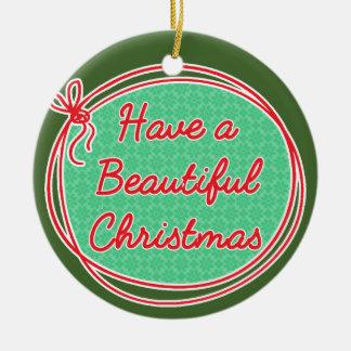 Avon-Weihnachten, haben ein schönes Weihnachten, Keramik Ornament