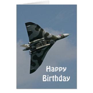 Avro Vulcan alles Gute zum Geburtstag Grußkarte