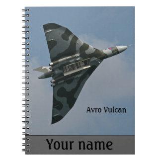 Avro Vulcan Bomber personalisiert Spiral Notizblock