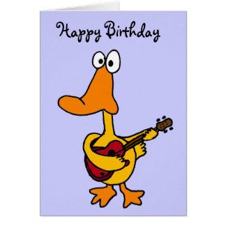 AW, lustige Ente mit Gitarren-Geburtstags-Karte Grußkarte