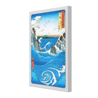 Awa Provinz, Naruto Strudel durch Ando Hiroshige Leinwanddruck