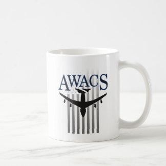Awacs-Wache und US-Flagge Kaffeetasse