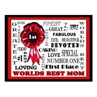 Awe, der WordCollage Weltbeste Mamma-Postkarte Postkarte
