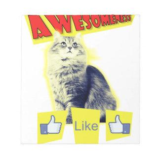 awesomeness Katze Notizblock