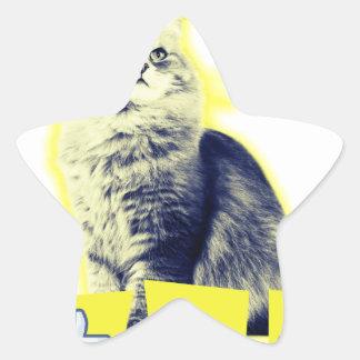 awesomeness Katze Stern-Aufkleber