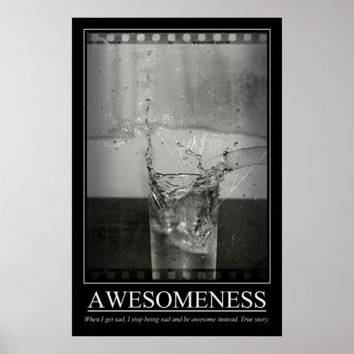 Awesomeness Posterdrucke
