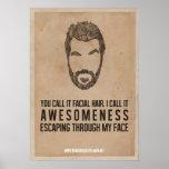 Awesomeness vom Gesicht Plakatdruck