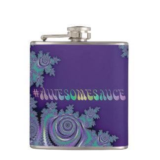 #Awesomesauce violettes lila Fraktal Flachmann