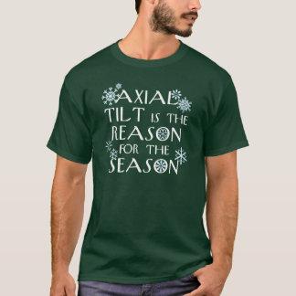 Axiale Neigung für die Feiertage (für dunkle T-Shirt