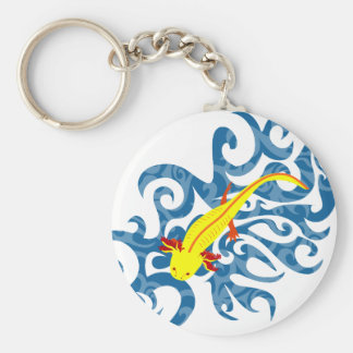Axolotl Gelb im Wassser Schlüsselanhänger